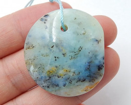 Natural Blue opal Drilled Pendant Bead ,Wholesale Gemstone H3685