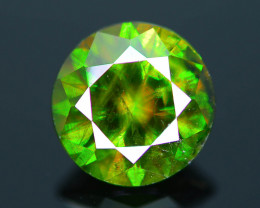 Rare AAA Fire 3.08 ct Chrome Green Sphene Sku-29