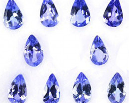 2.10Ct Exclusively Natural Purple Blue Tanzanite Pear 5 X 3mm parcel
