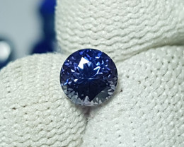 NO HEAT CERTIFIED 1.16 CTS NATURAL FLAWLESS VIOLETISH BLUE SAPPHIRE CEYLON