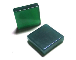 11.98cts Green Chalcedony Matching Square Discs