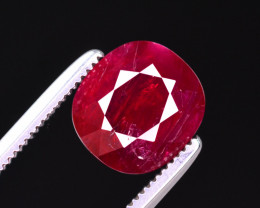 CERTIFIED~2.054 CT NATURAL NO HEAT  RUBY GEMSTONE