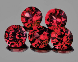 3.60 mm Round 5 pcs Pinkish Red Spinel [VVS]
