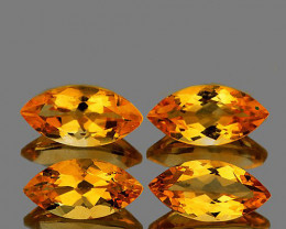 12x6 mm Marquise 4 pcs Golden Yellow Citrine [IF-VVS]