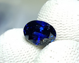 CERTIFIED 2.05 CTS NATURAL BEAUTIFUL ROYAL BLUE SAPPHIRE SRI LANKA