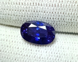 CERTIFIED 1.97 CTS NATURAL BEAUTIFUL VIOLETISH BLUE SAPPHIRE CEYLON