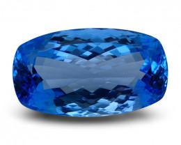 58.3 ct Cushion Swiss Blue Topaz