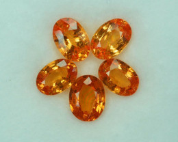 3.05Ct Luster Fire Intense Orange Natural Spessartite Garnet Oval 6 X 4mm
