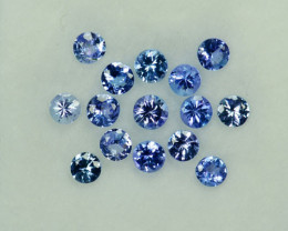2.01Ct Dazzling Natural Tanzanite Purple Blue  Round 3.00mm Parcel