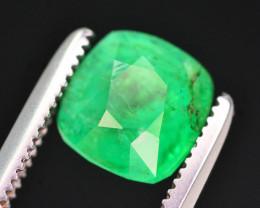 Gorgeous Green Color 1.25 Ct Natural Panjsher Emerald. ARA