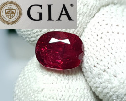 GIA CERTIFIED NO HEAT 2.25 CTS NATURAL RED RUBY FROM MOZAMBIQUE