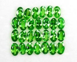 ~STUNNING~ 6.27 Cts Natural Green Tsavorite Garnet 5x3 mm Oval Cut 27 Pcs K