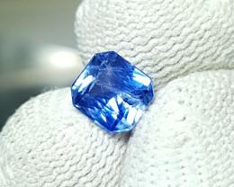UNHEATED 1.35 CTS CERTIFIED STUNNING CORNFLOWER BLUE SAPPHIRE CEYLON