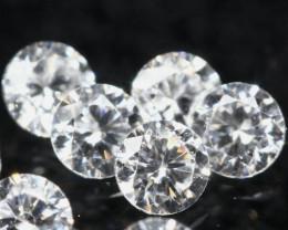 1.50mm D/F/VS 5Pcs Natural Loose Diamond
