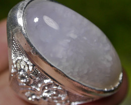 114.00 CT UNTREATED Indonesian Chalcedony Agate Jewelry Ring
