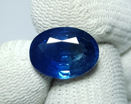 CERTIFIED 5.24 CTS NATURAL BEAUTIFUL OVAL MIX CUT BLUE SAPPHIRE