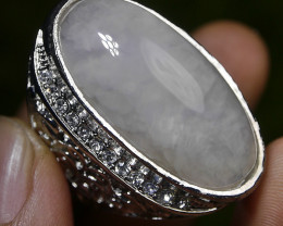 150.70 CT UNTREATED Indonesian Chalcedony Agate Jewelry Ring