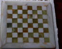 9040 CT Natural Onyx Carved Chess Board Special Shape