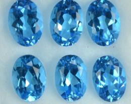 Natural Swiss Blue Topaz Oval  7 X 5mm 5.56 Cts