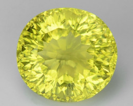 4.36 CT YELLOW LEMON QUARTS CONCAVE CUT GEMSTONE L34
