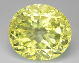 5.46 CT YELLOW LEMON QUARTS CONCAVE CUT GEMSTONE L35