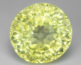 5.81 CT YELLOW LEMON QUARTS CONCAVE CUT GEMSTONE L36