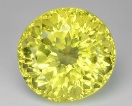 4.47 CT YELLOW LEMON QUARTS CONCAVE CUT GEMSTONE L38