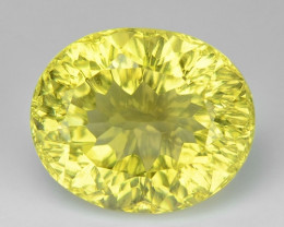 4.73 CT YELLOW LEMON QUARTS CONCAVE CUT GEMSTONE L39