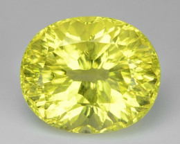 4.47 CT YELLOW LEMON QUARTS CONCAVE CUT GEMSTONE L40