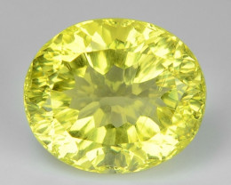 4.47 CT YELLOW LEMON QUARTS CONCAVE CUT GEMSTONE L41