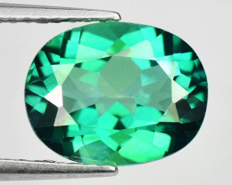 3.19 Ct Green Topaz Top Cutting Top Luster Gemstone. GT 03
