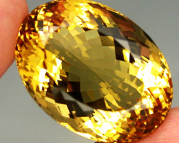 Clean Precious! 35.44ct. 100% Natural Unheated Top Yellow Golden Citrine Br
