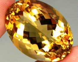 26.83ct. 100% Natural Unheated Top Yellow Golden Citrine Brazil