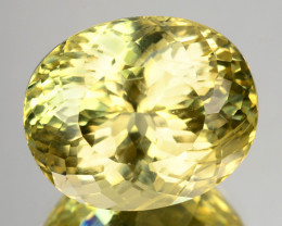 12.06 Cts Natural Apatite Canary Yellow Brilliant Oval Cut Brazil