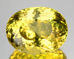 9.12 Cts Natural Apatite Canary Yellow Brilliant Oval Cut Brazil