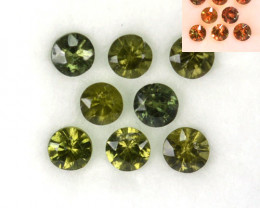 2.56 Cts Natural Color Change Sapphire 4 mm Round 8 Pcs Madagascar