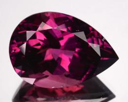 ~BEAUTIFUL~ 8.78 Cts Natural Raspberry Pink Tourmaline Pear Cut Mozambique