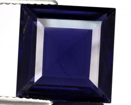 ~BRILLIANT~ 6.45 Cts Natural Blue Iolite 12.0 mm Square Cut Tanzania