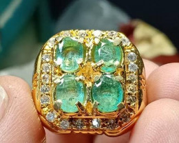 64.25 CT Emerald Colombia Jewelry Ring