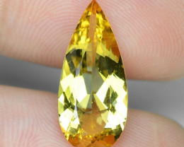 3.18 Cts NATURAL AMAZING RARE GOLDEN YELLOW BERYL LOOSE GEMSTONE