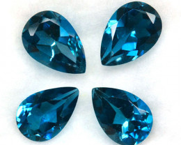 6.46Ct Superb Natural London Blue Topaz Pear Parcel