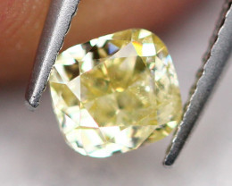 0.39Ct Untreated VS Fancy Olive Green Color Diamond A0403