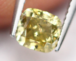 0.36Ct Untreated Fancy Green Yellow Color Diamond A0406
