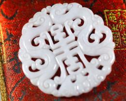 118.5Ct Natural Grade A Jadeite Jade Pendant