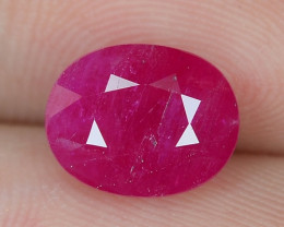 3.16  Cts AMAZING RARE ATURAL PINKISH RED RUBY LOOSE GEMSTONE