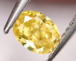 0.21Ct Untreated Fancy Intense Yellow Color Diamond A0506
