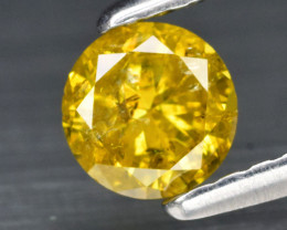 Natural Diamond - 0.38 cts - SI1 - Fancy Yellow, Africa