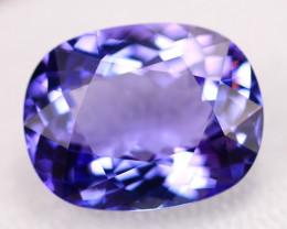 7.41ct Violet Blue Tanzanite Oval Cut Clarity VVS Lot V3496