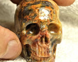 463.0 Carat Lace Agate Skull Carving - Cool