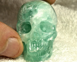 476.0 Carat Fluorite Skull Carving - Cool